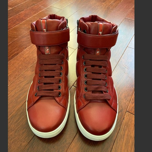 Red Prada Quilted High Top